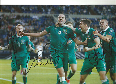 O'Shea McClean Walters Northern Ireland Signed authentic football photo SS1264B