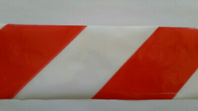 Warning Barrier Zebra Tape Boundary Hazard Marker NonAdhesive RedWhite 25M 70mm