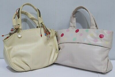Job Lot Designer Handbags 2 x RADLEY Cream & Pink Leather - 232