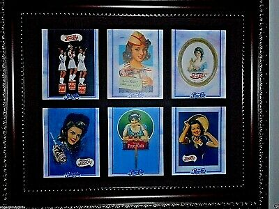 Pepsi Cola - Vintage Miniature Adverts In Frames