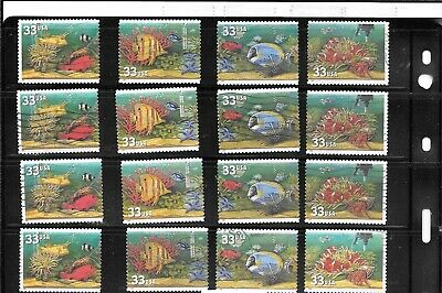 U S Stamps Used 3317 - 3320 Aquarium Fish Autos  One (1) Of These  Vf Sets