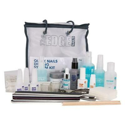 The Edge Quick Nails ACRYLIC Dipping Kit - Coloured Kit and Powders Available