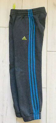 Adidas Track Suit Pants Bottoms Joggers Trousers Age 7-8 Years Boys Girls Grey