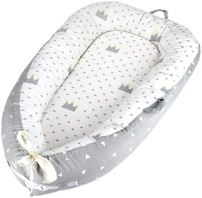 Baby Nest for Newborn and Babies, Baby Pod Cocoon Double Crown Gray (Crown Gray)