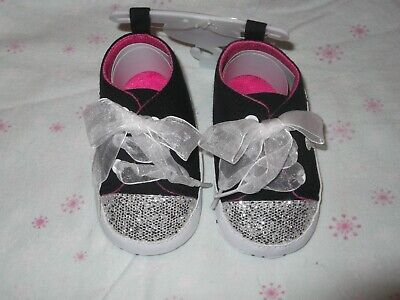 Baby Girls Bling Romany Style Shoes 12-15 Months