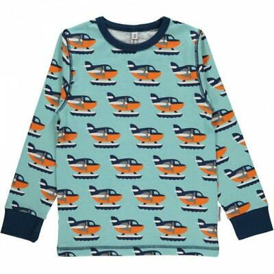 *NEW* Maxomorra - t-shirt blue with sea plane. Size 74/80-9-12 months.