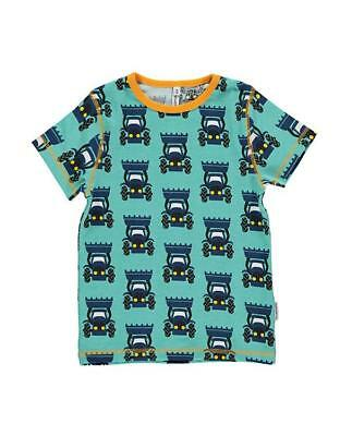 *NEW* Maxomorra Scandi /Slim t-shirt Blue with Tractor. Size 80/12months.