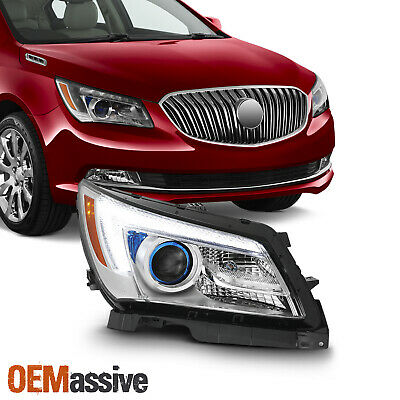 Fit [Halogen Type] 2014-16 Buick LaCrosse Passenger Side LED Projector Headlight