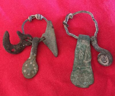 Viking ancient amulets pendants pegan authentic  7-8 century AD detect  finds