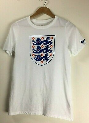 BOYS NIKE WHITE OFFICIAL ENGLAND CREST 3 LIONS TEE T-SHIRT AGE 12-13 Years