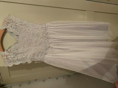 Beautiful Girls Monsoon Dress -Aged 8 - Sparkly Silver grey Colour (lilac Tones)