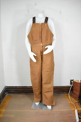 Carhartt BQW226 overall bibs 12 made in USA insulated vintage pants womens