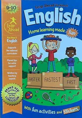 Leap Ahead Maths and English Home Learning Workbooks for Kids 9-10 KS2 Year 5