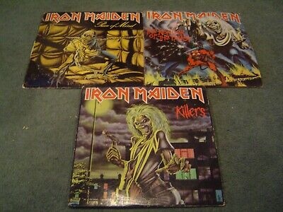 Iron Maiden LP lot 3 albums Killers Number of the Beast Piece of Mind