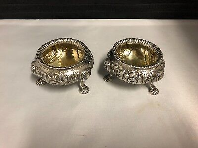 A Pair Of Quality Sterling Silver Open Salts London 1853