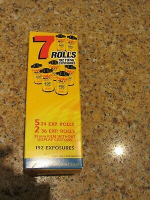 Kodak Expired 35mm Color Film - Lot of 7 Total Rolls 192 Total Exposures ISO 400