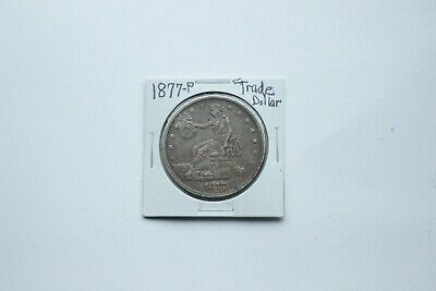 1877-P TRADE DOLLAR ~ NICE LOOKING COIN ~~Filled Hole
