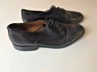 Used Mens Romba Black Lace Up Leather Shoe Eu 41 Uk 7 Us 8