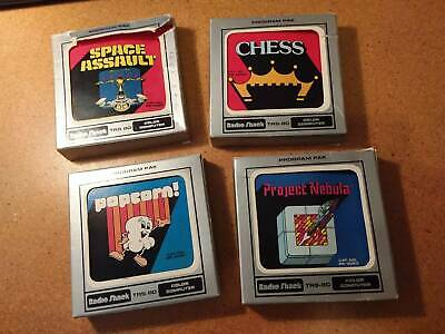 TRS-80 color computer games x4, ultra rare for vintage collectors