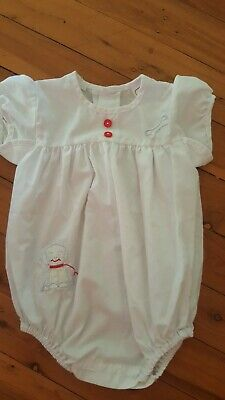 FREE POST  Bundle Vintage baby boy Blue/White summer rompers clothing 00 and 0