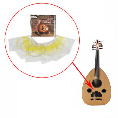Ude Strings Set Oud Lute Strings Silver Plated Copper Alloy Wrapped Nylon StBDA