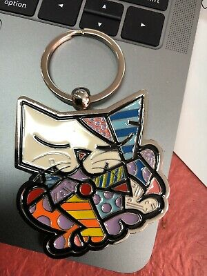 Romero Britto Keychain: Kitten ** New ** Gift Box