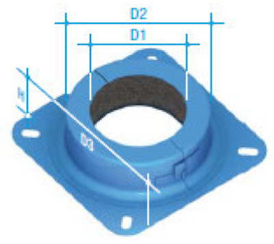 100mm Retrofit Collar-Flanged