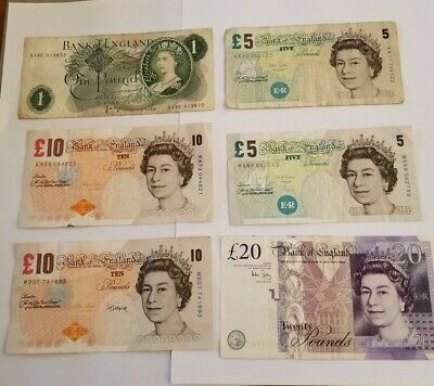 British pounds sterling banknotes