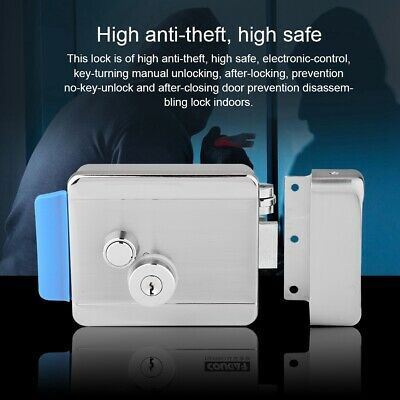 Electronic  Door Lock Anti-theft Silver For Access Control System Home Security