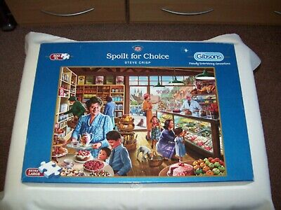 Gibsons Jigsaw Puzzle 500 extra large piece -  Spoilt for Choice Used