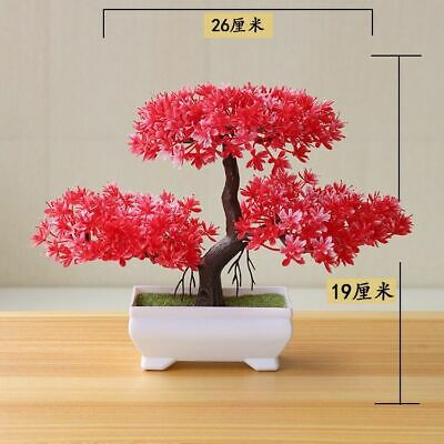 Artificial Bonsai Fake Plant Tree Decor Flower Home Potted Mini Office Garden