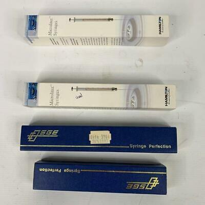 Syringes x 4 Gas Chromatography Micro Volume Hamilton SGE
