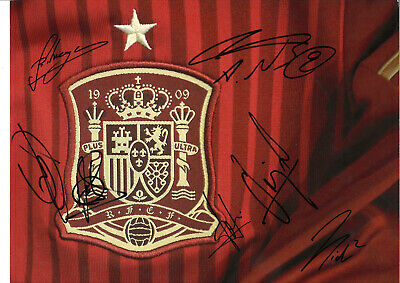 Spain FC Autographs Multi Signed 16 x 12 inch authentic football photo SS1300A
