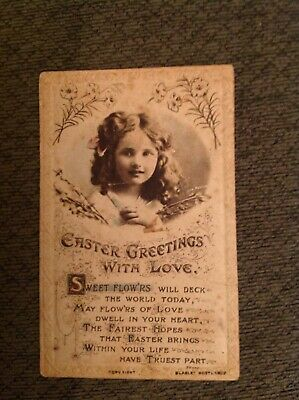 Antique Easter Greetings Card