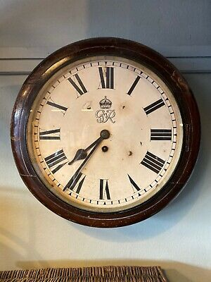 Antique Chain Fusee English Post Office Dial Clock, Elliot