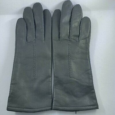 Vintage Fownes Leather Driving Gloves Womens 7 Gray cosplay theater