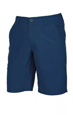 UNDER ARMOUR GOLF MATCH PLAY VENTED CHAMBRAY SHORTS Academy Blue- NEW-