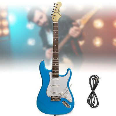Blue Full Size Electric Guitar ST Strat Style with Tremolo Johnny Brook JB415