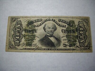 1863 Fifty Cent 50c Fractional Currency Note VG