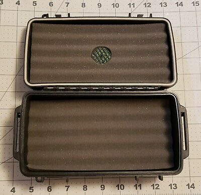 Herf-A-Dor by Humi-Care 5 Cigar Mini Humidor BROKEN LATCHES Holder Case Travel
