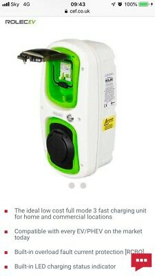 Rolec Wallpod EV Charger 32A Type2 for EV and PHEV Audi, BMW, Tesla