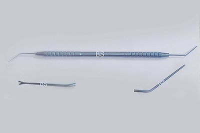 New Titanium double ended spatula blunt y rotator overall length 140 mm Eye 2 IN