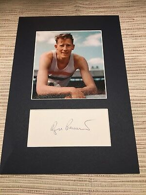 Sir Roger Bannister 1929-2018 (Athletics 4 Minute Mile) Signed 12x8 Photo Mount