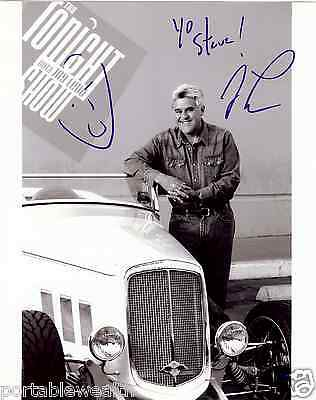 JAY LENO Hand Signed 8 x 10 B & W Signed Yo Steve. Authentic