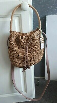 Oasis- New with tags small raffia bag