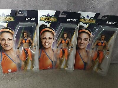 WWF WWE Basic Mattel Wrestling Figures Bundle Joblot Bayley Wrestlemania New