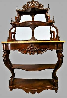Fantastic Victorian Etagere with Marble Top