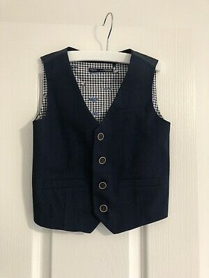 Navy Boy Vest Size 3-4 Years