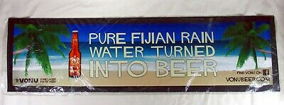 Rare Large Vonu Pure Lager Fiji Rubber Backed Beer Mat New In Package