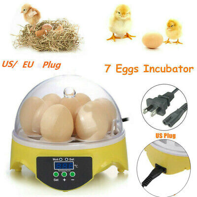 7 Digital Egg Incubator Chicken Hatcher Automatic Turning Temperature Control